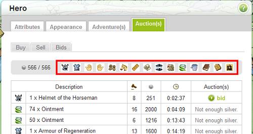 Bandgeek's: Auctions